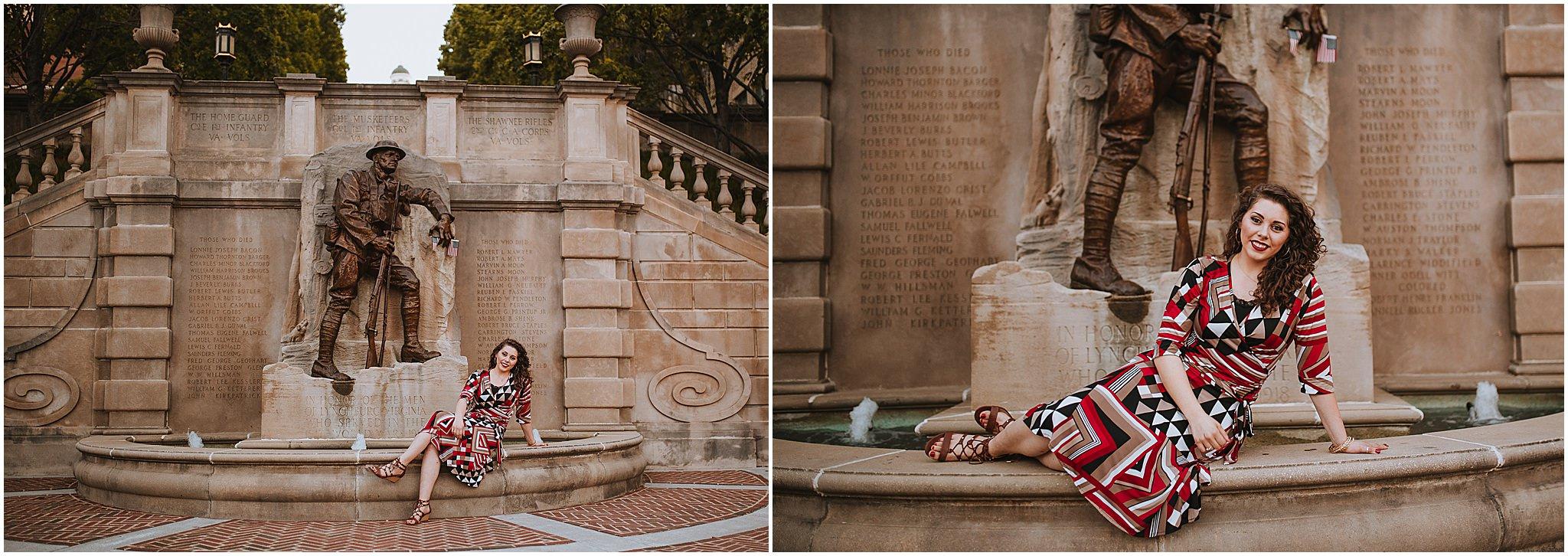 Sara's Senior Portrait Downtown Lynchburg, VA 122