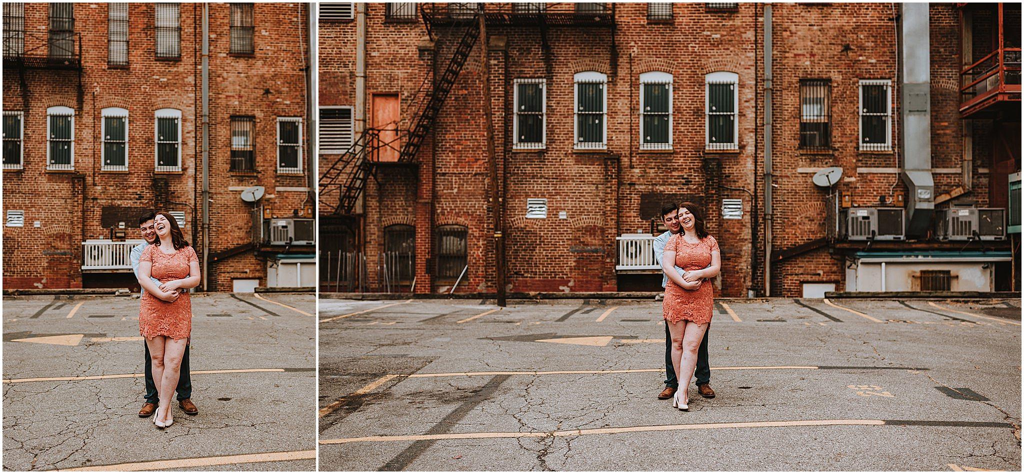Clarice & Zac Fall Engagement Session Downtown Roanoke VA 104